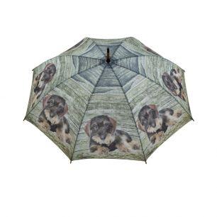 Paraplu teak teckel liggend