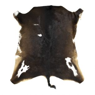 Vacht kalf zwart 80x90cm