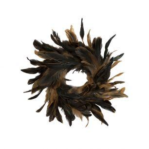 Krans haan zwart/bruin 15cm *