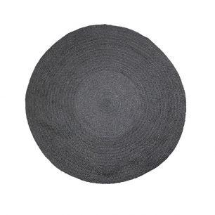Jute vloerkleed zwart Ø120cm