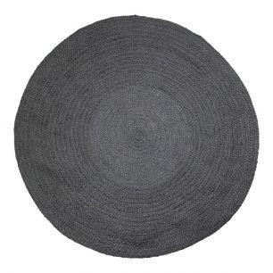 Jute vloerkleed zwart Ø170cm*