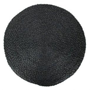 Jute placemat rond zwart Ø 43cm*