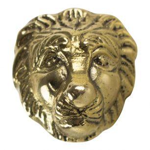 Goud deurknop leeuw