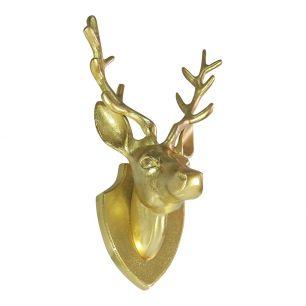 *goud hertenkop 33cm*