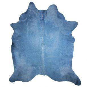 Vloerkleed koe gekleurd blauw