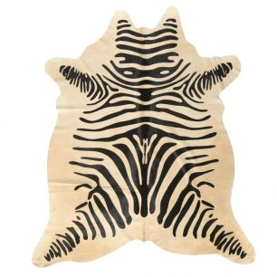 Vloerkleed koe zebra print