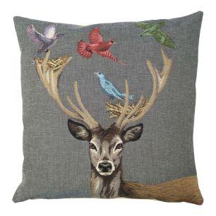 Gobelin kussen funky deer nest 45x45cm