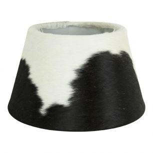 Lampenkap koevel zwart/wit 30cm*