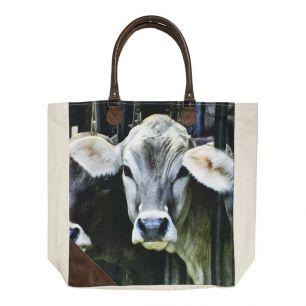 Canvas shopper zwitsers kalfje