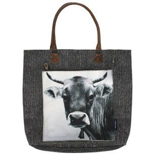 Canvas shopper zwitserse koe