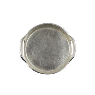 Dienblad silver look rond 22cm*