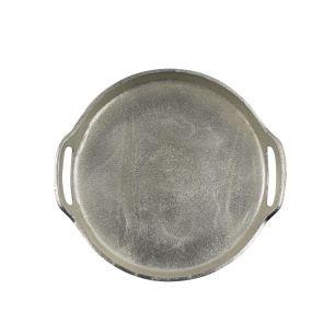 Dienblad silver look rond 27cm*