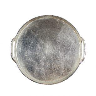 Dienblad silver look rond 32cm*