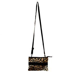 Crossbody tas envelop zwart panter *