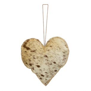 Hangdecoratie naturel hart groot 20cm