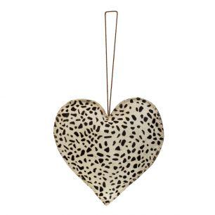 Hangdecoratie giraffe hart groot 20cm*