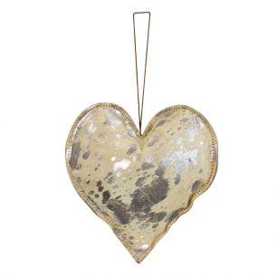 Hangdecoratie zilver hart groot 20cm*