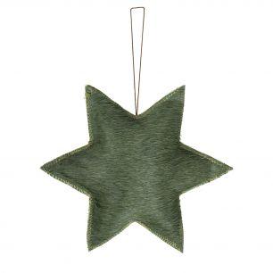 Hangdecoratie ster groen large*