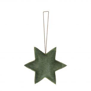 *hangdecoratie ster groen klein*
