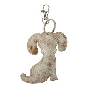 Sleutelhanger hond bruin*