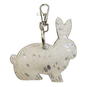 Sleutelhanger konijn zilver*