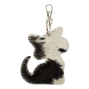 Sleutelhanger kat zwart*