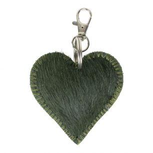 *sleutelhanger mini hart groen*