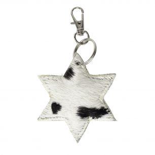 Sleutelhanger mini ster zwart*