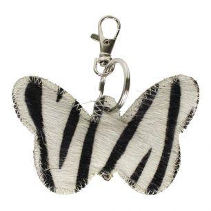 Sleutelhanger vlinder zebra*