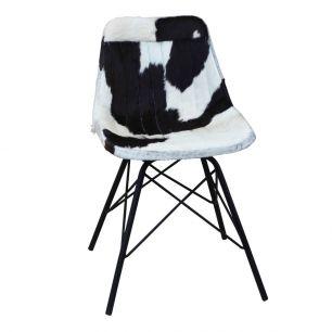 Stoel koe zwart wit x (zelfmontage)