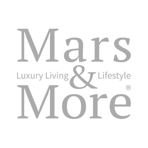 Onderzetter koehuid hart bruin/wit 14cm