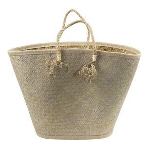 Palmblad tas wit kwasten*