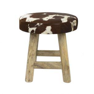 Kruk chalet koe rood bruin rond
