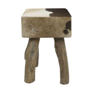 Kruk koe donker bruin vierkant