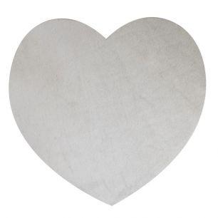 Placemat koe hart grijs*