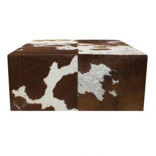 Hocker koe rood bruin 80x80x35cm (ex transp)