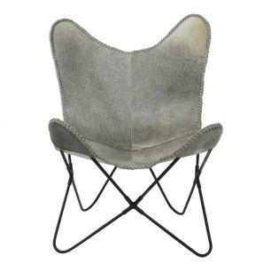 Vlinderstoel koe grijs (zelfmont.) max.100kg