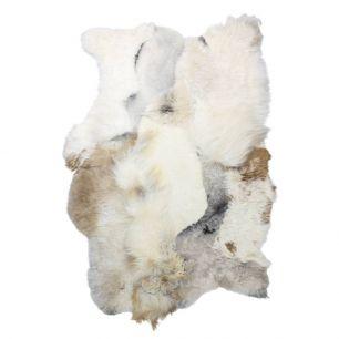 Kleed ijslandse schapen melange mix licht 120x180cm