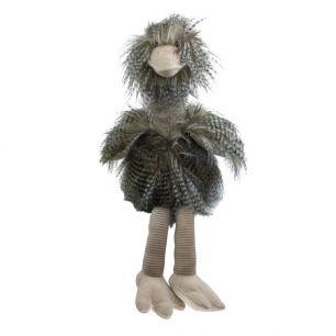 Knuffel langhaar struisvogel 43cm