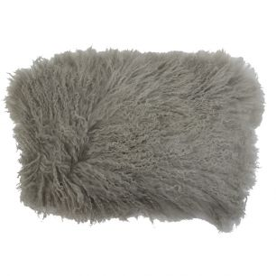 Kussen schaap krulhaar grijs 35x50cm