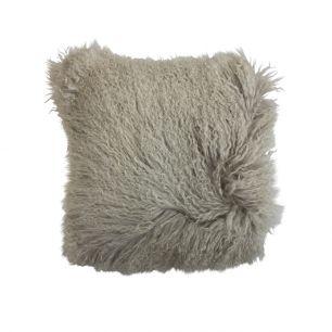 Kussen schaap krulhaar grijs 40x40cm