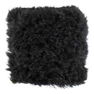 Kussen schaap wol zwart 40x40cm