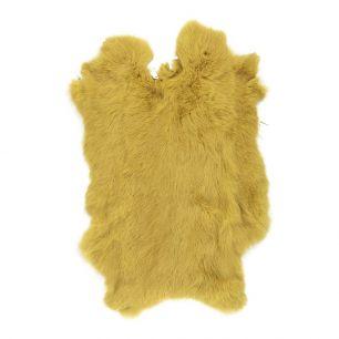 Vacht konijn geel goud