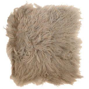 Zitkussen schaap krulhaar beige 40x40cm