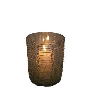 Waxinelicht filigrain1 recht bruin 8cm*