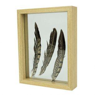 Fotolijst hout zwevend 27x35cm