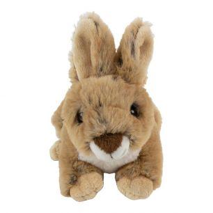 Knuffel konijn bruin liggend 16cm*
