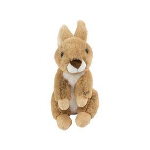Knuffel konijn bruin zittend 21cm*