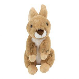 Knuffel konijn bruin zittend 23cm*