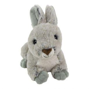 Knuffel konijn grijs liggend 21cm*